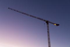 reaching skies (Antti Tassberg) Tags: srv minimal ilta iltarusko nosturi tapiola afterglow espoo evening minimalistic simplified twilight uusimaa finland fi