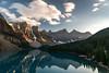 Moraine Lake (Mike_Y_Wong) Tags: canada morainelake lake rockies rockymountains jasper banff banffnationalpark jaspernationalpark sunset longexposure pacificnorthwest pnw lakelouise alberta british columbia britishcolumbia