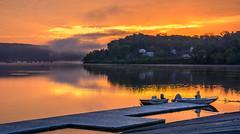 _DSC0517 (johnjmurphyiii) Tags: 06457 autumn clouds connecticut connecticutriver dawn harborpark middletown originalnef sky sunrise tamron18400 usa johnjmurphyiii landscape nature