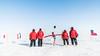 South Pole Closed For Maintenance (redfurwolf) Tags: southpole antarctica antarctic ceremonialpole pole people icecube winterover snow outdoor sky ice flags dangertape sign redfurwolf sonyalpha a99ii sal1635f28za sony