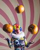 Day 3902 (evaxebra) Tags: pumpkin pumpkins juggle clown ruff wig hat colorful juggling gourds evaxebra 365days 365 33daysofhalloween 33days halloween blackmilk