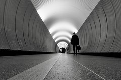 Brunkebergstunnel, Stockholm, Sweden (andersåkerblom) Tags: sweden stockholm streetphotography streetphoto street blackandwhite monochrome tunnel