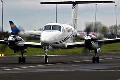 G-IASB BEECHCRAFT KING AIR 200 NEWCASTLE (toowoomba surfer) Tags: aviation aircraft aeroplane ncl egnt medevac medical