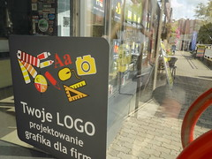 Naklejka na drzwi w Drukarnia (reklamy-AREK) Tags: logo sticker printing glass window graphics vinyl infographics