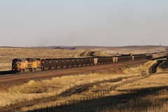 3G2A7710 (kschmidt626) Tags: powder river coal train wyoming bnsf union pacific sunset sunrise tier 4