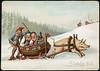 Humoristisk julemotiv tegnet av Wilhelm Larsen (National Library of Norway) Tags: nasjonalbiblioteket nationallibraryofnorway postkort postcards julekort christmascards jul christmas wilhelm larsen griser pigs ølboller alkohol alcohol kartongkort overrekkelseskort