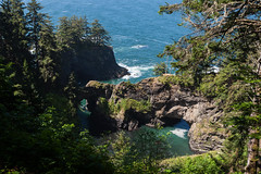 Hwy 101 CA-OR July 2018-31 (ntisocl) Tags: 2017 canon1dmarkiii canonef2470mmf28lusm hwy101 naturalbridgesviewpoint oregon oregoncoasthwy oregoncoast pacificnorthwest pacificocean roadtrip rockybeach waves