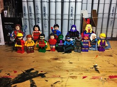 Teen Titans (Lord Allo) Tags: lego dc teen titans mary marvel wonder girl donna troy superboy raven supergirl speedy red arrow kid flash robin garth aqualad tim drake dick grayson nightwing beast boy cyborg ravager jericho starfire
