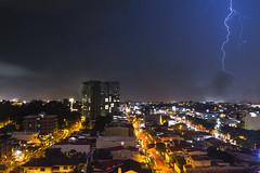 Lightning in San Jose, CR. (Cristy Valencia) Tags: cityscapes costarica sanjose longexposure night nightphotography scape lighting rain rainseason canon7d