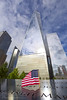 Freedom Tower (Brian Knott Photography) Tags: ny nyc newyork newyorkcity manhatten brooklyn 911 911memorial 911memorialmuseum 911museum flag usa americanflag starsandstripes freedomtower worldtrade worldtradecenter worldtradecenterone worldtradeone clouds sky reflection names victims 911victims manhattan