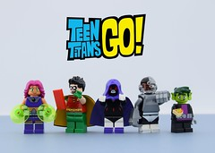 LEGO Teen Titans Go! (Alex THELEGOFAN) Tags: lego legography minifigure minifigures minifig minifigurine minifigs minifigurines movie tv beast boy raven robin cyborg starfire teen teenager titans go teentitansgo heroes super dc comics show series