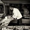 fast food at weekly market (Le Xuan-Cung) Tags: fastfood weeklymarket haarlem holland streetphotography pizza manatwork sw bw nb spring onarannyday blackandwhite noiretblanc livinginhaarlem livinginholland ngc