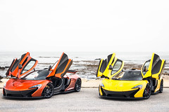 Orange Or Yellow? (Hunter J. G. Frim Photography) Tags: supercar car week 2017 carweek carmel monterey mclaren p1 volcano yellow orange burton blue v8 turbo wing carbon rare hypercar british twinturbo mclarenp1