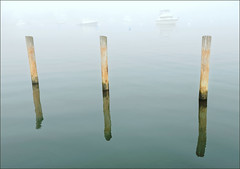 Pile Moorings in Fog (KD's_Fotos) Tags: nikon d750 24120mmf4gvr pilemoorings oakbluffs marthasvineyard fog harbor