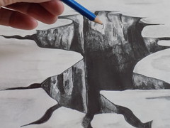 3D Art (rachael242) Tags: art sketch inktober inktober2017 draw drawing pencil ink black paper white monochrome hole illusion create