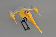 Naboo N-1 Starfighter V2 (Rear) (Inthert) Tags: naboo lego moc ship star wars n1 phantom menace fighter royal starfighter rear astromech sleek smooth