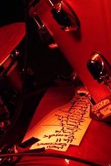 la setlist (fotomie2009) Tags: musica music live concert supersuckers raindogs house savona italy performance set list drum percussions setlist red instrument musical rock alternative punk