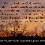 Psalm 40:5 God's wonderful works thumbnail