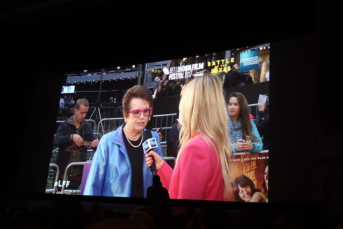 Billie Jean King - Billie Jean King on the red carpet at the Battle of the Sexes gala screening at the BFI London Film Festival 2017