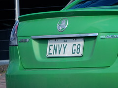 Green With Envy (mikecogh) Tags: car idiom envy green numberplate personalised holden ashford