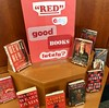Red Books in the Morning (Lester Public Library) Tags: lesterpubliclibrary 365libs librariesandlibrarians tworiverswiscsonsin wisconsinlibraries publiclibrary library libraries book books bookdisplay red