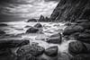 Marloes Sands Pembrokeshire Wales UK (paulbnashphotography.com - Sharpe Shooter) Tags: marloes sands black white slow exposure