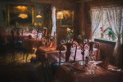 Please sit down :-) (Siggi007) Tags: mood painting restaurant tokokker bryggen bergen light shadows artistic table chairs flowers window old artwork oilpainting dinner dining cozy romantic farben colors canon colores indoor processing furniture style lovely valentine valentinesday