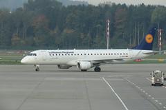 Embraer ERJ-190LR (ERJ-190-100 LR) - Zurich Airport, Zurich, Switzerland - September 30, 2017 (mango verde) Tags: zrh daeca jet airplane erj190 embraer embraererj190lrerj190100lr lufthansacityline zurichairport zurich switzerland mangoverde