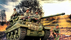 M36 in Countryside (WesternOutlaw) Tags: m36 jackson jacksontank m36tank toysoldiers 130scale 130 kingcountry kingandcountry