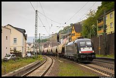 Wiener Lokalbahnen Cargo 182 530, Assmansshausen 21-04-2017 (Henk Zwoferink) Tags: rüdesheimamrhein hessen duitsland de wlc assmansshausen siemens taurus 182 530 henk zwoferink es64u2 mrce