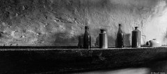 Bottles (BenoitGEETS-Photography) Tags: bottles bouteilles noiretblanc nb bn bw londres london sony a6000 geets benoitgeets misterblue