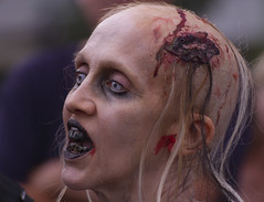 """Should have used Crest! -7DWF- """"horror picture"""" (Karon Elliott Edleson) Tags: zombies horror horrorpicture 7dwf crazytuesdaythemefor7dwf woman badteeth halloween scary grotesque frightening event blood"""