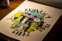 anomaly friends II (Joey Howell) Tags: anomaly goods co joey howell art friends alien dog triangle square leroy ruler pencil hand mountains sky monster plants