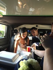 "Emily and Joe in the Limo at Their Wedding • <a style=""font-size:0.8em;"" href=""http://www.flickr.com/photos/109120354@N07/37244031334/"" target=""_blank"">View on Flickr</a>"