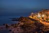 Playa San Juan (csillikbence) Tags: beach night tenerife ocean bluehour blue