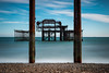 The tides of time (The Frustrated Photog (Anthony) ADPphotography) Tags: architecture brighton category decay eastsussex england flickrpost places seascape travel westpier ruin erosion corrosion rust longexposure metal steel twisted pier sea waves motionblur canon1585mm canon70d canon outdoor architecturephotography travelphotography landscapephotography pillars columns uk unitedkingdom british greatbritain englishchannel sky bluesky water cloudblur