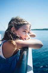 (Rebecca812) Tags: girl children boy boat ferry blue portrait candid realpeople authentic vacation travel people beauty water greatlakes usa summer rebecca812 rebeccanelson canon