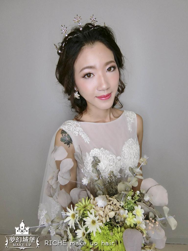 【新秘RICHE】新娘造型創作 / 短髮-後編髮宮廷風