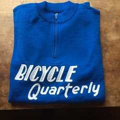 Bicycle Quarterly jersey (ddsiple) Tags: compasscycles embroidered woolistic bicyclequarterly cyclingjersey cycling