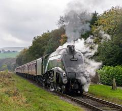 Class A4, 60009 'Union of South Africa' works 1J57 Heywood to Rawtenstall, East Lancashire Railway, Autumn steam gala, 15.10.2017 (alannaylor85) Tags: class a4 60009 union south africa irwell vale east lancashire railway autumn steam gala