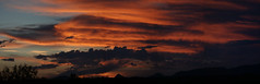 Sunset 9 9 17 #09 Panorama (Az Skies Photography) Tags: sun set sunset sky skyline skyscape clouds cloud rio rico arizona az riorico rioricoaz arizonasky arizonaskyline arizonaskyscape arizonasunset red orange salmon gold yellow golden black september 9 2017 september92017 9917 992017 canon eos 80d canon80d canoneos80d eos80d