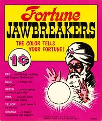 Fortune Jawbreakers (grooveisintheart) Tags: gum gumball vending machine cards vendingmachinecards gumballmachinecards vintage ephemera 1960s 1970s groovy mod typography graphicdesign illustration vintagefood vintagecandy vintagegum vintageadvertising