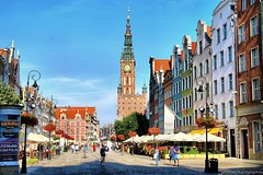 Gdansk, Poland. First acquaintance - main street (Dlugi Targ) (jackfre 2) Tags: poland danzig mainstreet wealthy architecture hanseaticcity colourful gdansk dlugitarg