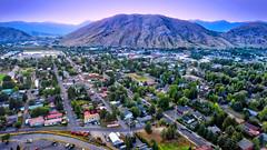 Town of Jackson WY (Sky Noir) Tags: jackson hole wyoming yellowstone grand teton national parks aerial drone photography dji