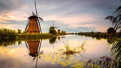 Kinderdijk (Jan Jungerius) Tags: holland netherlands niederlande kinderdijk molens windmolen windmühlen windmills water wasser tamronsp2470mm nikond750 outdoor waterscape weerspiegeling spiegelung reflection reflejos molino sky wolken greatphotographers moulin infinitexposure wowl3 abendstimmung