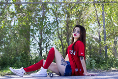 Sexy Boston Red Sox Girl (ruben_regalado_photography) Tags: sexy hot pose redsox boston bostonredsox baseball baseballjeresey jersey kneehighsocls legs legsfordays tattoo tattoos tatted converse brunette latina redlips red shorts jeanshorts baseballgirl model modellife sporty sportsgirl sportsfan beautiful beauty perfect