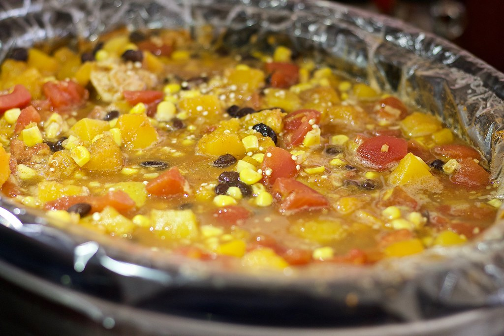 Slow Cooker Butternut Squash, Chicken an by healthiermi, on Flickr