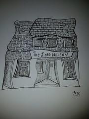 The Lord Nelson.  Totnes (jeffhill6) Tags: totnes art pen ink paper lordnelson pub blackandwhite