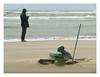 Resilience (Noordwijk fisherman) (AurelioZen) Tags: europe netherlands northsea noordwijk beach fisherman fishinggear branding golven stuifzand sportvisserij amateurfishery sportvisseraanzee