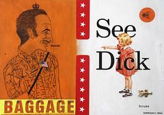 see dick (the digital pig) Tags: dick seedick art iowa lobster flyonthewall jane baggage profit king crown usflag surreal surrealism fineart parody bologna